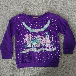 Kid's vintage cat sweater